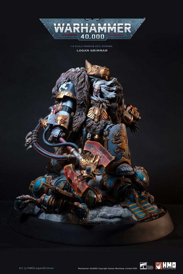 HMO Warhammer 40,000 Statue Logan Grimnar Diorama Pre-Order